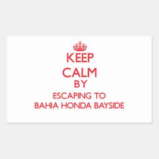 Guarde la calma escapándose a Bahía Honda Bayside Rectangular Altavoces