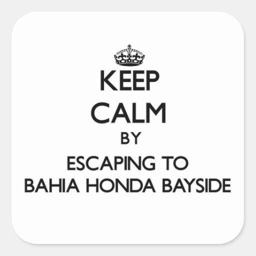 Guarde la calma escapándose a Bahía Honda Bayside Colcomanias Cuadradases