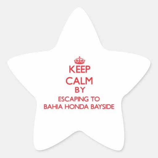 Guarde la calma escapándose a Bahía Honda Bayside Colcomanias Forma De Estrella