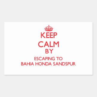 Guarde la calma escapándose a Bahía Honda Sandspur Rectangular Altavoz