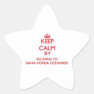 Guarde la calma escapándose a la costa Flo de Pegatina Forma De Estrella