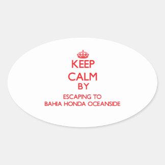 Guarde la calma escapándose a la costa Flo de Colcomanias De Óval Personalizadas