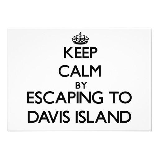 Guarde la calma escapándose a la isla la Florida d Invitación Personalizada