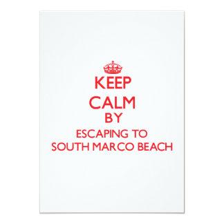 Guarde la calma escapándose a la playa del sur la invitacion personal