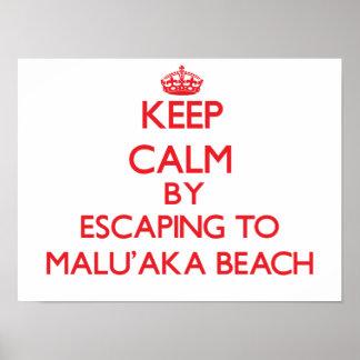 Guarde la calma escapándose a la playa Hawaii de M