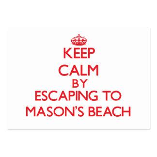 Guarde la calma escapándose a la playa Maryland de Plantillas De Tarjetas De Visita