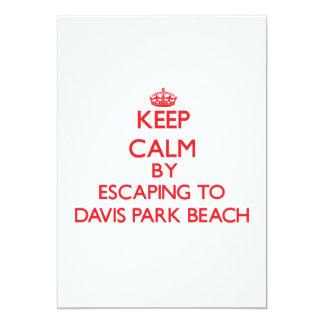 Guarde la calma escapándose a la playa Nueva York Anuncios Personalizados