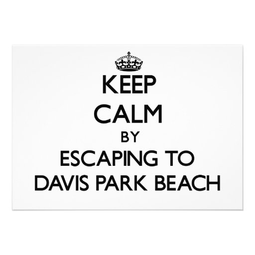 Guarde la calma escapándose a la playa Nueva York  Invitacion Personal