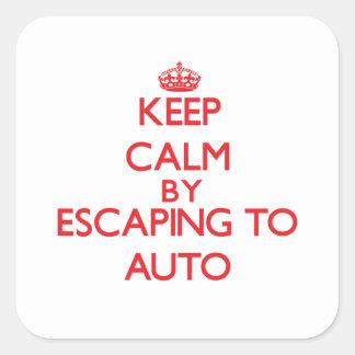 Guarde la calma escapándose a Samoa auto Pegatinas Cuadradases