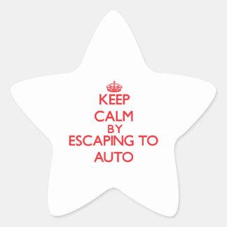 Guarde la calma escapándose a Samoa auto Calcomanía Forma De Estrellae