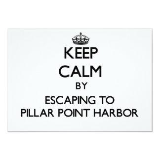 Guarde la calma escapándose al puerto Calif del Invitación 12,7 X 17,8 Cm