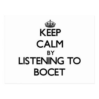 Guarde la calma escuchando BOCET Tarjeta Postal