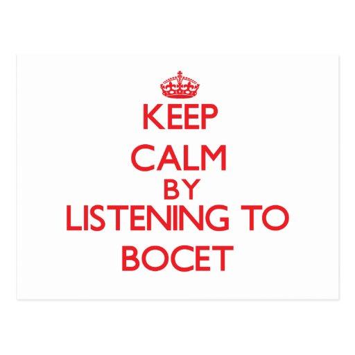 Guarde la calma escuchando BOCET Tarjetas Postales