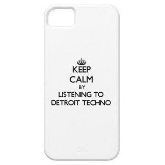 Guarde la calma escuchando DETROIT TECHNO iPhone 5 Protector