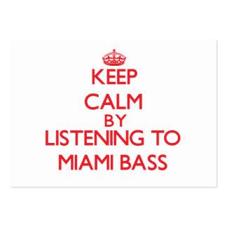 Guarde la calma escuchando el BAJO de MIAMI