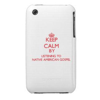 Guarde la calma escuchando el EVANGELIO del NATIVO Case-Mate iPhone 3 Cárcasa