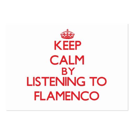 Guarde la calma escuchando el FLAMENCO Plantilla De Tarjeta Personal