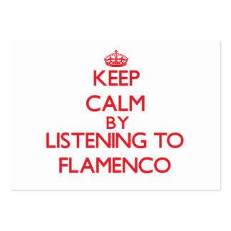 Guarde la calma escuchando el FLAMENCO Tarjetas De Visita Grandes