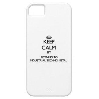 Guarde la calma escuchando el METAL INDUSTRIAL de  iPhone 5 Coberturas
