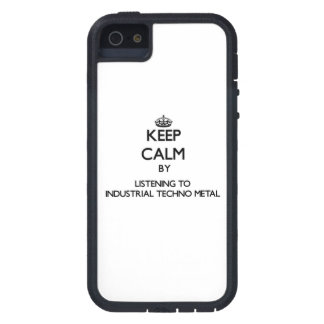 Guarde la calma escuchando el METAL INDUSTRIAL de  iPhone 5 Protectores