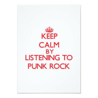 Guarde la calma escuchando el PUNK ROCK Anuncio Personalizado