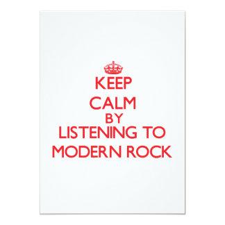 Guarde la calma escuchando el ROCK MODERNO Invitaciones Personales