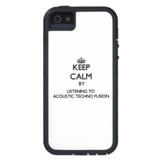 Guarde la calma escuchando la FUSIÓN ACÚSTICA de T iPhone 5 Case-Mate Coberturas