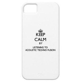 Guarde la calma escuchando la FUSIÓN ACÚSTICA de T iPhone 5 Coberturas