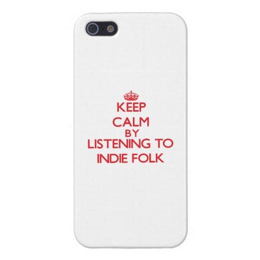 Guarde la calma escuchando la GENTE del INDIE iPhone 5 Protectores