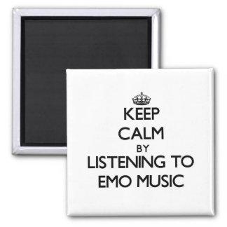 Guarde la calma escuchando la MÚSICA de EMO Imán De Nevera