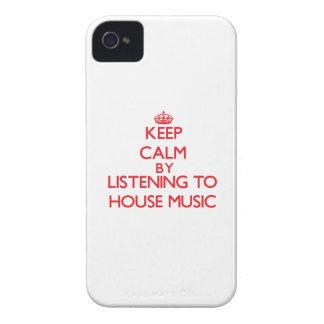 Guarde la calma escuchando la MÚSICA de la CASA Case-Mate iPhone 4 Carcasa