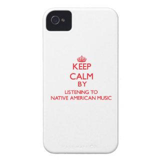 Guarde la calma escuchando la MÚSICA del NATIVO AM iPhone 4 Case-Mate Funda