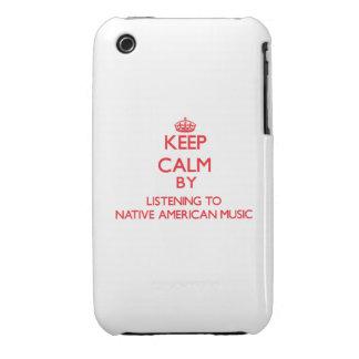 Guarde la calma escuchando la MÚSICA del NATIVO AM Case-Mate iPhone 3 Cárcasas