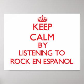 Guarde la calma escuchando PARA OSCILAR EN ESPANOL Posters