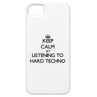 Guarde la calma escuchando TECHNO DURO iPhone 5 Protectores