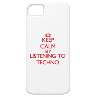 Guarde la calma escuchando TECHNO iPhone 5 Carcasas