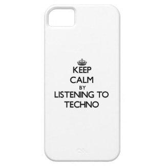 Guarde la calma escuchando TECHNO iPhone 5 Funda