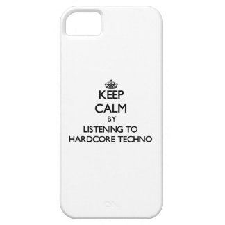 Guarde la calma escuchando TECHNO INCONDICIONAL iPhone 5 Case-Mate Carcasas