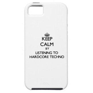 Guarde la calma escuchando TECHNO INCONDICIONAL iPhone 5 Case-Mate Cobertura