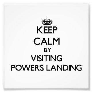 Guarde la calma por los poderes que visitan que at