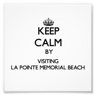 Guarde la calma por WIS conmemorativo de la playa  Cojinete