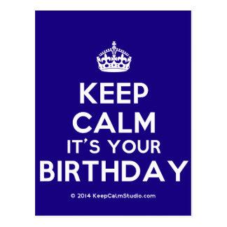 Guarde la calma que es su cumpleaños postal