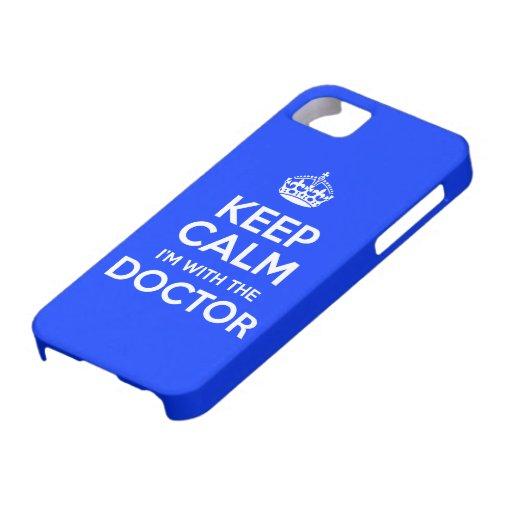 Guarde la calma que estoy con el doctor (con la co iPhone 5 Case-Mate cárcasas