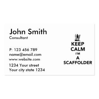 Guarde la calma que soy andamio tarjetas de visita