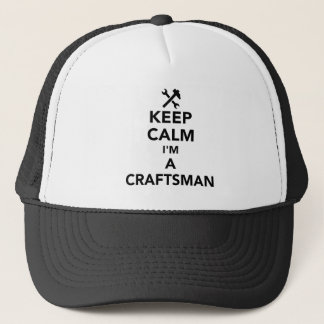 Guarde la calma que soy artesano gorra de camionero