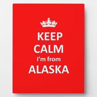 Guarde la calma que soy de Alaska Placa Expositora