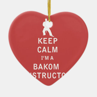 Guarde la calma que soy instructor de Bakom Adorno De Cerámica En Forma De Corazón