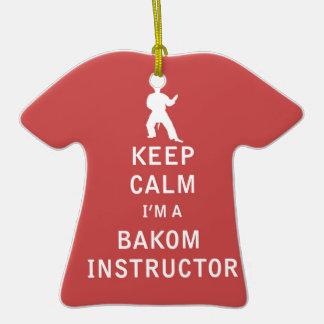 Guarde la calma que soy instructor de Bakom Adorno Navideño De Cerámica En Forma De Camiseta