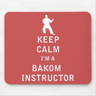 Guarde la calma que soy instructor de Bakom Alfombrilla De Ratón