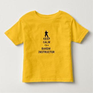 Guarde la calma que soy instructor de Bakom Camiseta De Bebé